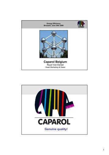 Caparol Belgium Genuine quality! - AHK debelux