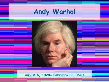Andy Warhol - Clow Elementary School