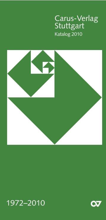Carus-Verlag Stuttgart 1972–2010