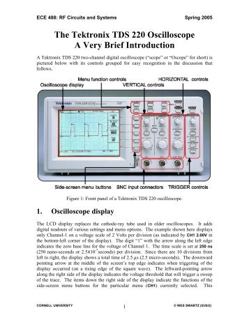 the tektronix tds 220 oscilloscope a very brief introduction rh yumpu com Tektronix Oscilloscope tektronix tds 220 service manual