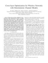 Cross-layer Optimization for Wireless Networks with Deterministic ...