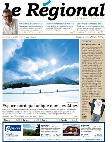 Espace nordique unique dans les Alpes