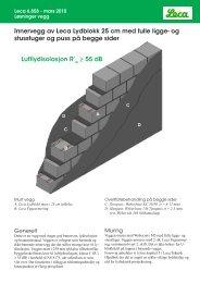 6858 Innervegg av Leca Lydblokk 25 cm med - Weber