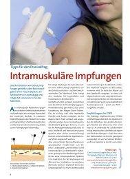 Tipps für den Praxisalltag Intramuskuläre Impfungen - Med.KOMM