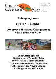 SPITI & LADAKH - Bike Adventure Tours
