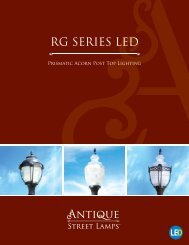 RG LED Series Brochure.pdf - ANTIQUE Street Lamps
