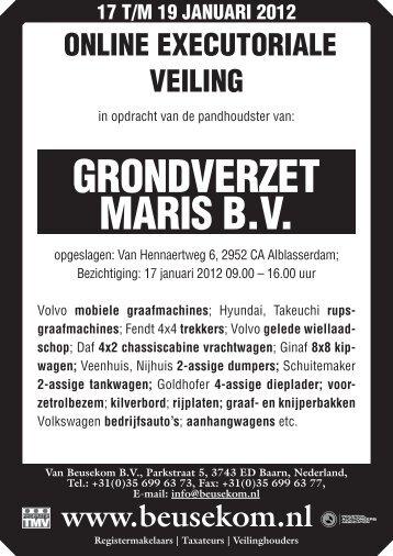 Maris A4.indd - Veiling - Van Beusekom