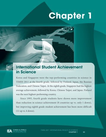 Chapter 1: International Achievement in Science - TIMSS and PIRLS ...