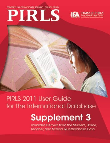 Supplement 3 - TIMSS and PIRLS Home - Boston College