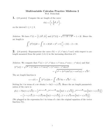 Practice Midterm 2 Solutions