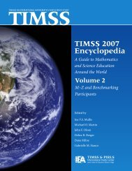 TIMSS 2007 Encyclopedia - TIMSS and PIRLS Home - Boston College