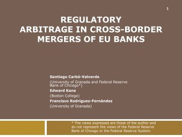 regulatory arbitrage in cross-border mergers of eu ... - Boston College