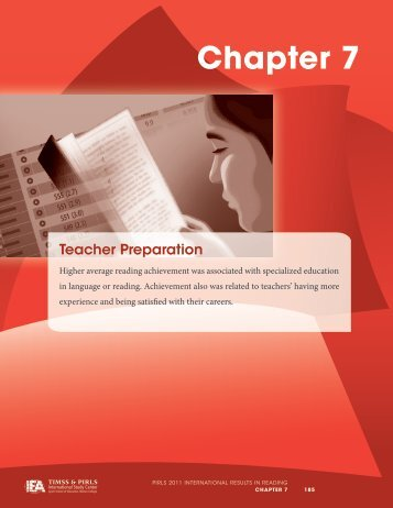 Chapter 7: Teacher Preparation - TIMSS and PIRLS Home