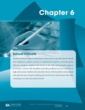 Chapter 6: School Climate - TIMSS and PIRLS Home