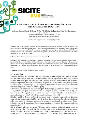 INSTRUÇÕES PARA ELABORAÇÃO DE TRABALHOS - UTFPR