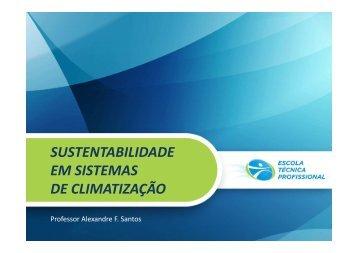SUSTENTABILIDADE EM SISTEMAS DE CLIMATIZAÇÃO ... - UTFPR
