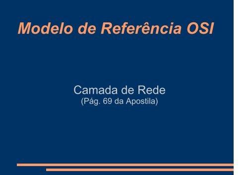 Camada de Rede OSI