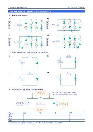 Lista de exercícios – Diodos – conceitos básicos 1- Qual lâmpada ...