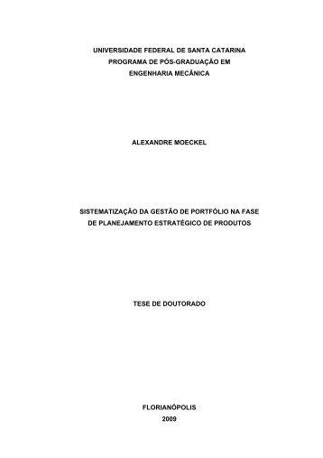 Sistematização da gestão de portfólio na fase de ... - ResearchGate