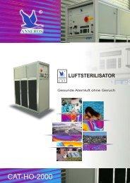 Anseros Luftsterilisator CAT-HO-2000