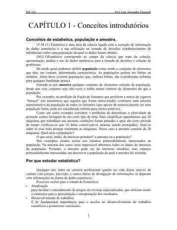 Conceitos introdutórios - Departamento de Informática - UFV