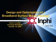 Design and Optimization of a Broadband Surface Mount Package