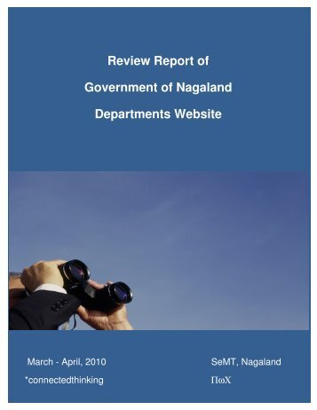 Review Report of Government of Nagaland Departments Website