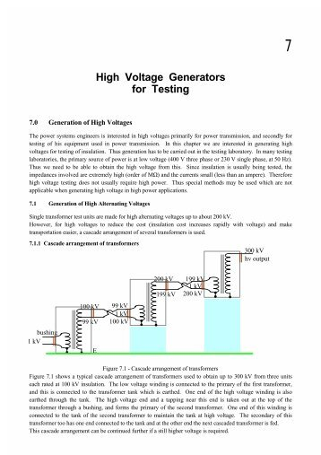High Voltage Generators for Testing - Electrical Engineering