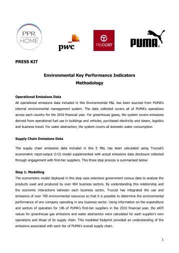PRESS KIT Environmental Key Performance ... - About PUMA