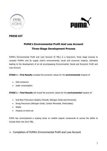 PUMA's E P&L - About PUMA