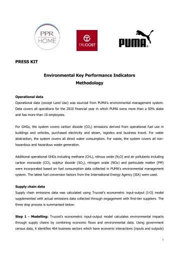 EKPI Methodology - About PUMA