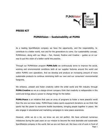 PUMAVision PDF download - About PUMA