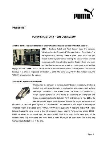 press kit - About PUMA