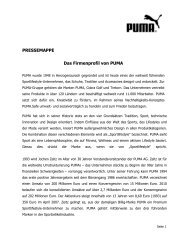 Das Firmenprofil von PUMA PDF download - About PUMA