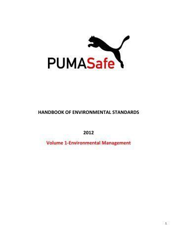 PUMA.Safe Environmental Handbook Volume 1 - About PUMA