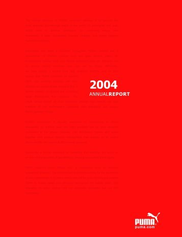 2004 annualreport - About PUMA