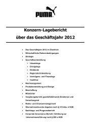 Konzern-Lagebericht über das Geschäftsjahr - About PUMA