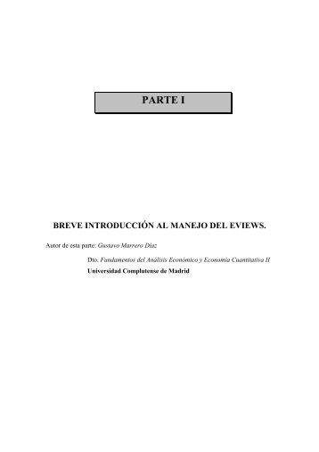 PARTE I - Departamento de Análisis Económico