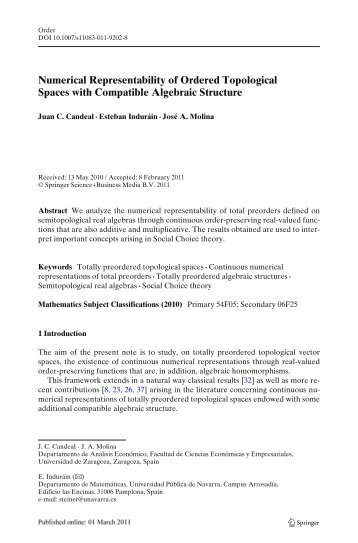 Numerical Representability of Ordered Topological Spaces with ...