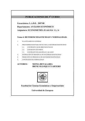 publicaciones de 3 curso - Departamento de Análisis Económico ...