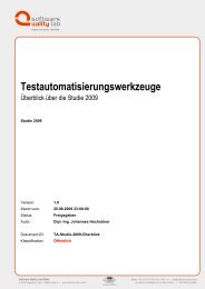 Testautomatisierungswerkzeuge - Software Quality Lab