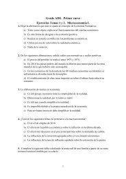 Grado ADE. Primer curso Ejercicios Temas 1 y 2. Microeconomía I.
