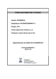 Ejercicios temas 2 y 3 - Departamento de Análisis Económico