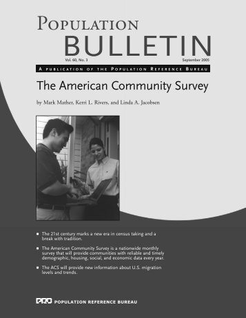 The American Community Survey - Population Reference Bureau