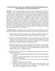 guidelines for graduate courses offered for professional ...