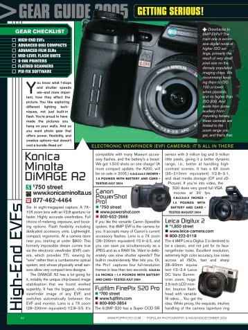 GEAR GUIDE 2005 - Popular Photography