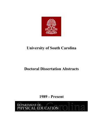 Phd abstracts