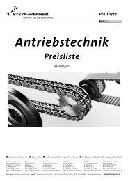 Preisliste Antriebstechnik Preisliste - Steyr-Werner