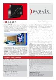 EC-65-SXT - Eyevis GmbH