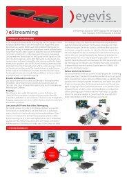 eStreaming Lösung - Eyevis GmbH